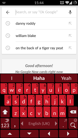 red swiftkey keyboard theme android