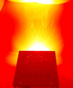 red 670 light device on beam
