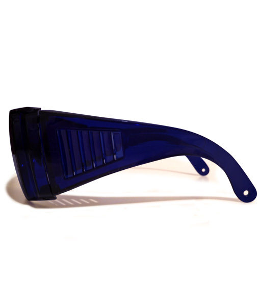red light blocking glasses from side