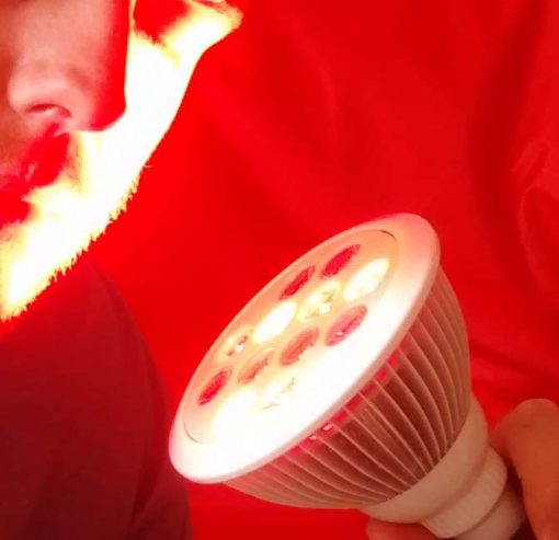 red infrared light used on face
